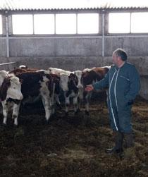 Portrait - Gilles Marche, producteur de lait à Tauves