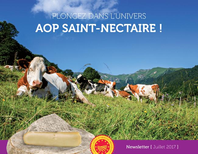 Plongez dans l'univers AOP Saint-Nectaire ! - Newsletter Juillet 2017