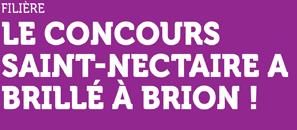 Filière - Le Concours Saint-Nectaire a brillé à Brion !